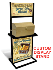 TREASURE CHEST DISPLAY STAND