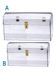 LUCITE TREASURE CHESTS